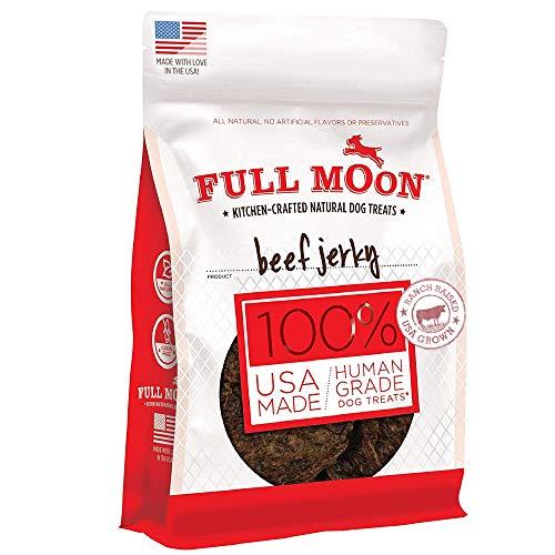 Full Moon All Natural Human Grade Dog Treats, Beef Jerky, 11 Ounce