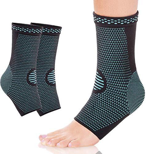 1 Paar Sprunggelenk Bandage, Kompressionssocken, Laufen & Sport für effektive Schmerzlinderung, Premium Fußgelenk Bandage zur Stabilisierung des Fußes, Plantarfasziitis Socken
