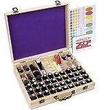 Soligt 72 Bottle Wooden Essential Oils Storage Box with Handle, 64 Slot for 5-15ml Essential Oils & 8 Slot for 10ml Roller Bottles