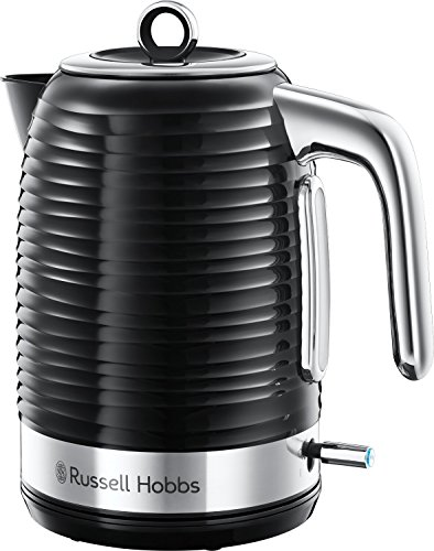 Russell Hobbs 24361 Inspire Wasserkocher, 3000 W, 1.7 Liter, Schwarz mit Chrom Akzente - Vereinigtes Königreich Stecker