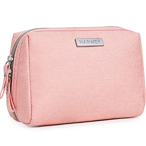 Small Makeup Bag for Purse Travel Makeup Pouch Mini Cosmetic Bag for Women Girls (Small, Pink)