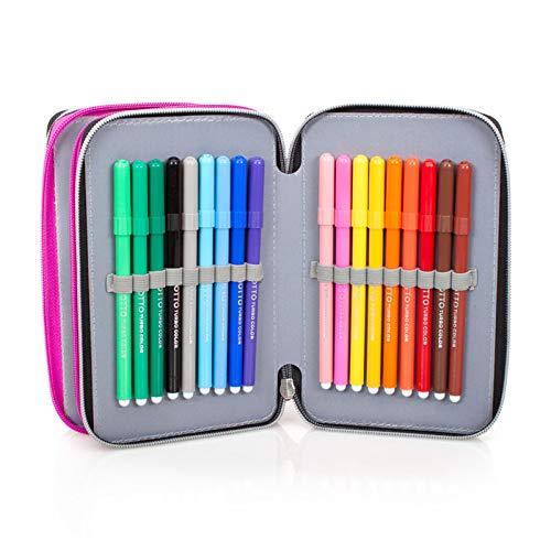 Image 4 - Lol Surprise 92424 Trousse triple rembourrée, 44 accessoires scolaires, 20 cm