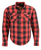 Milwaukee Performance MPM1631 Men's Armored Checkered Flannel Biker Shirt with Aramid by DuPont Fibers - 2X-Large