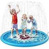 Jasonwell Sprinkle & Splash Play Mat 68' Sprinkler for Kids Outdoor Water Toys Inflatable Splash Pad Baby Toddler Pool Boys Girls Children Outdoor Backyard Sprinkler Toy Splash Pad