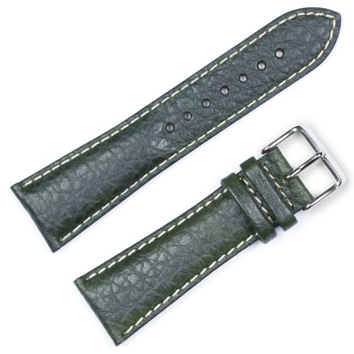 Replacement Leather Watch Band - Sport Leather Green 16mm
