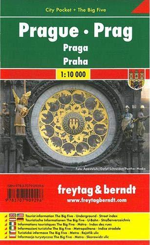 Praga, plano callejero de bolsillo plastificado. City Pocket. Escala 1:10.000. Freytag & Berndt.: St