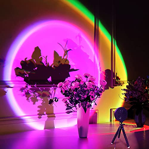 Sunset Projector, LED Rainbow Projection Light, USB Sunset Lamp...