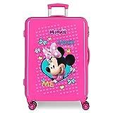 Disney Minnie Happy Helpers Maleta Mediana Rosa 48x68x26 cms Rígida ABS Cierre combinación 3,7Kgs 4 Ruedas Dobles