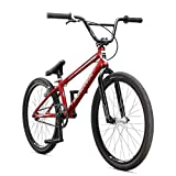 Mongoose Title 24 BMX Race Bike with 24-Inch Wheels in Red for Beginner or Returning Riders, Featuring Lightweight Tectonic T1 Aluminum Frame and Internal Cable Routing