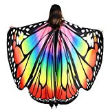 YXwin Adult Halloween Costumes for Women Butterfly Wings Girl Rainbow Butterfly