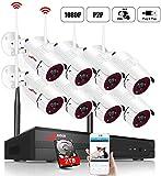 Kit Vidéo Surveillance Système de Caméra sans Fil,ANRAN 8CH 1080P NVR...