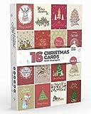 Joy Masters - 16 Caja de Tarjetas de Navidad Variados con Sobres - Vol. 3