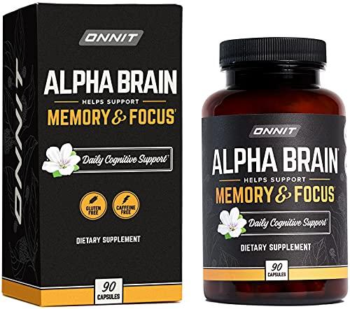 ONNIT Alpha Brain (90ct) - Over 1 Million Bottles Sold -...