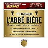 STC - Plaque Professionnelle Humoristique Abbé Bière