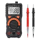 Multimètre Numérique Meterk Ampèremètre /Voltmètre /Ohmmètre /Ecran LCD Rétroéclairé /NCV /Mesure de Température (2000 Points)