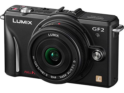 Panasonic Lumix DMC-GF2 12 MP Micro Four-Thirds Mirrorless Digital Camera with 3.0-Inch Touch-Screen LCD and 14-42mm Lens (Black)