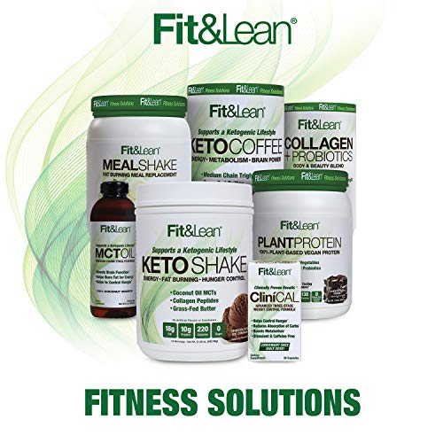Fit & Lean Meal Shake Fat Burning Meal Replacement with Protein, Fiber, Probiotics and Organic Fruits & Vegetables and Green Tea for Weight Loss, 1lb, Chocolate, 10 Servings Per Container 9