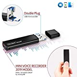 Mini Voice Activated Recorder – Slim USB Flash Drive | 26 Hours Battery | 8GB - 94 Hours Capacity | 512 Kbps Audio Quality | Easy to Use USB Memory Stick Sound Recorder | lightREC by aTTo Digital