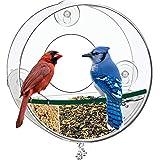 Birdious Circular Window Bird Feeder House: Bring Wild Birds Up Close. Strong Suction Cups and...