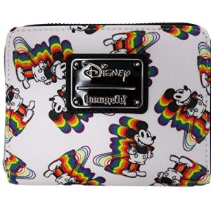 Loungefly x Disney Rainbow Mickey Mouse Small Zip-Around Wallet