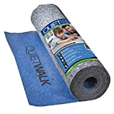 MP Global Products QW100B1LT Laminate Flooring Underlayment with Attached Vapor Barrier Offering Superior Sound Reduction, Compression Resistant and Moisture Protection, 3' x 33'4', Blue