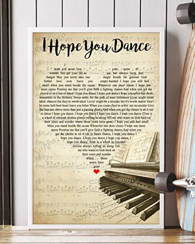 Kapparo Decor Gift - I Hope You Dance Song Lyrics Portrait...