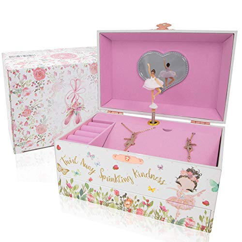 Product Image 5: The Memory Building Company Musical Ballerina Jewelry Box for Girls & Little Girls Jewelry Set - 3 Dancer Gifts for Girls…