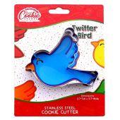 Cortador de biscoito de pássaro do Twitter - Aço inoxidável