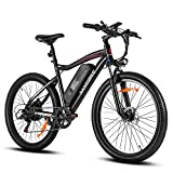 SAMEBIKE 26 Inch Electric Bike 500W 25 MPH Electric Mountain Bike for Adults 48V 12.5Ah Battery Ebike for Men and Women with Shimano 7-Speed and Suspension Fork, LCD Display with USB