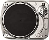 Crosley DJ100 Direct Drive DJ Turntable with Built-in Preamp and RCA/USB Outputs, Silver