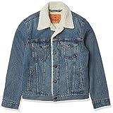 Levi's Men's Type III Sherpa Jacket, Mustard Blue Denim, M