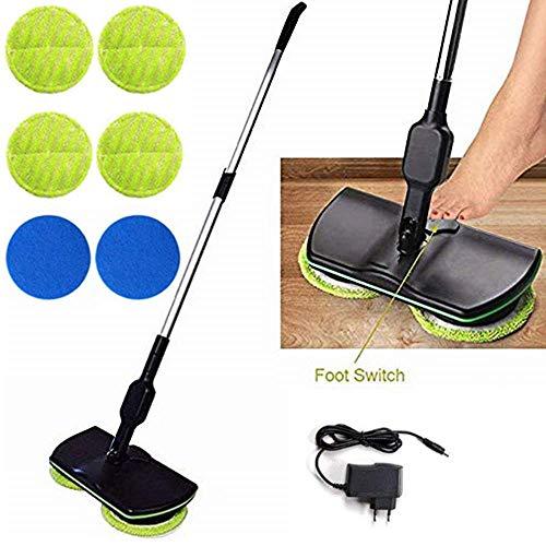 Mop wireless elettronico, pulitore per pavimenti centrifugo 3 in 1 per tutte le superfici -...