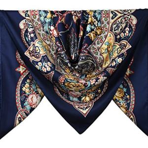 40″ Women Twill Satin Polyester Silk Feeling Square Hair Wrapping Square Scarfs