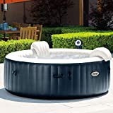INTEX PureSpa Bulles & LED bleu navy 6 places 216x71cm