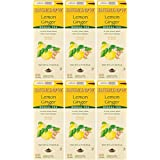 Bigelow Lemon Ginger Herbal Tea Bags 28-Count Boxes (Pack of 6) Lemon Ginger Tea Bags Herbal Tea All Natural Gluten Free
