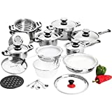 28pc 12-element Heavy-gauge Stainless Steel Cookware Set