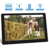 Digital Picture Frame, Jimwey 10.1 Inch 1920x1080 IPS Screen Digital Photo Frame with Motion Sensor, Support Video Music Video USB Drive SD Card, Suitable as a Gift for Elders, Students, Friends