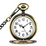 This Retro and Exquisite pocket watch brings you back to your memory in those earlier youth memories, has an antique feel and an alluring ornament for common and social engagements. Vintage Pocket Watch with a Stainless Steel Chain Length: 14 inche (...