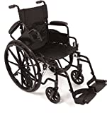 ProBasics TRANSFORMER Ultra Lightweight Wheelchairs For Adults - Wheel chair + Transport Wheelchair In One - Flip Back Desk Arms - 18' x 16' Seat