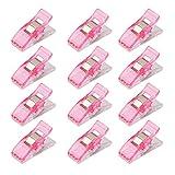 Lot de 50Pcs Clips Pinces en Plastique pour Reliure Couture Artisanat Rose...