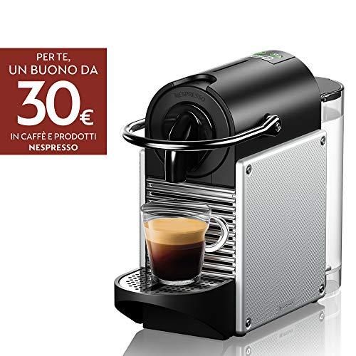 De'Longhi Nespresso EN 124 EN124.S macchina per capsule Pixie 1260 W pareti laterali in alluminio...