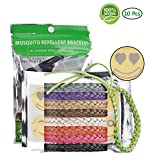 MUCH 100% Natural Mosquito Repellent Bracelet for Adults, Kids & Pets, Non-Toxic Waterproof Travel Wristband, BPA-Free Deet-Free Safe Highly Effective Insect Repellent Bands 10 Packs