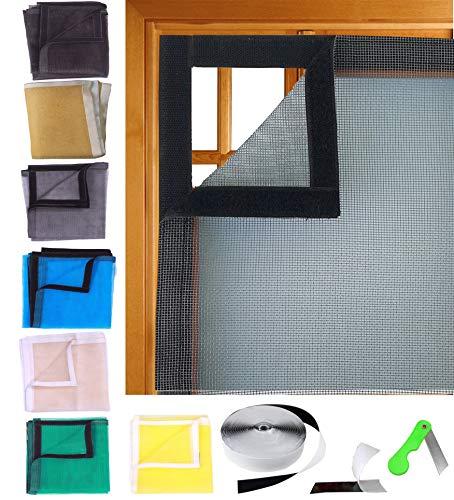 SAI PRASEEDA Mosquito Net for Window with Fiber Glass 4/4feet (Grey, 120/120cm, 47/47Inches) 1 Year...