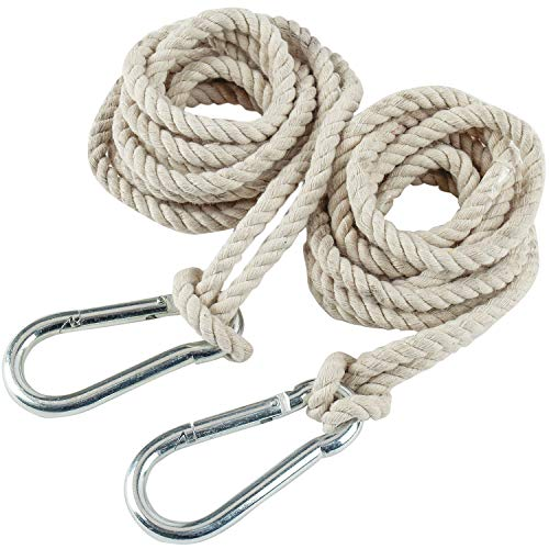 2 Tree Swing Hanging Straps Hammock Rope 13 FT Each with Heavy Duty...