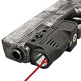 Laswin Tactical Flashlight with Internal Red Laser Sight for Handguns,2 in 1 Laser Light Combo,Magnetic Charging Flashlight Gun Laser Sight for Pistol,Glock,,Rifles,Shotguns