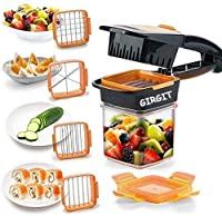 Select As Per Your Preferences From Material Bar : 1) 6 in 1 Slicer. 2) 5 in 1 Quick Slicer. 3) Adjustable Slicer 4) French Fries Cutter Material : Plastic Blade Material : 100% Food Grade Stainless Steel Quick and Easy to Use and Not needed To much ...
