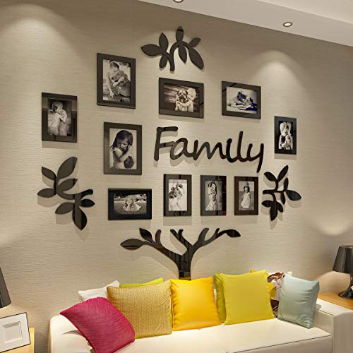 CrazyDeal Family Tree Picture Frame Collage 3D DIY Stickers with...