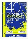 Blasetti 2327 Ricambi rinforzati con banda trasparente, a righe, A5, 40 fogli