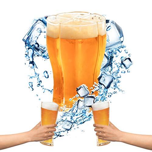Yisscen 4 in 1 Birra Bicchieri, Boccale da Birra Personalizzato Super Schooner per Farti Trasportare Facilmente 4 Bicchieri di Birra in Una Volta per Casa, Bar, Vacanze E Feste(Taglia Larga)