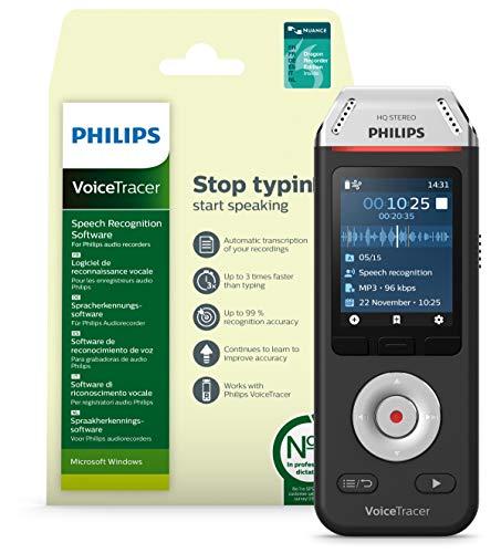 Philips Enregistreur Voicetracer audio avec logiciel dragon Speech Recognition de reconnaissance vocale pour WINDOWS - DVT2810